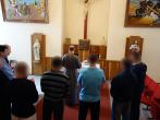 Stačiatikių velykinė malda įstaigos koplyčioje