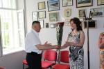 Pagerbta ilgametė įstaigos Buhalterinės apskaitos skyriaus buhalterė Liudmila Belova