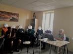Marijampolės vyrų krizių centro vadovės viešnagė Marijampolės pusiaukelės namuose