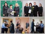 Šiaulių regiono skyriaus pareigūnai sveikino policijos pareigūnus su profesine švente