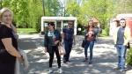 Įstaigos darbuotojai tvarkė Vytauto didžiojo universiteto Botanikos sodo teritoriją