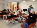 Klaipėdos regiono skyriaus pareigūnai paaukojo kraujo VšĮ