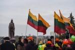 Panevėžio regiono skyriaus registre esantys nepilnamečiai ir pareigūnai dalyvavo renginiuose skirtuose Lietuvos valstybės atkūrimo dienai paminėti