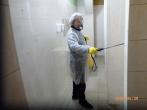 Įstaigoje vykdoma patalpų dezinfekcija