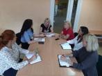 Klaipėdos regiono skyriaus pareigūnų susitikimas su Skuodo socialinių paslaugų šeimai centro darbuotojais