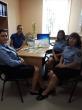 Panevėžio regiono skyriaus pareigūnų susitikimas su visuomenės sveikatos biuro specialiste