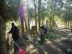 Nuteistieji dalyvavo Veršvų kapinių tvarkymo akcijoje