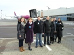 Lukiškių tardymo izoliatoriaus-kalėjimo darbuotojų vizitas Vilniaus oro uoste